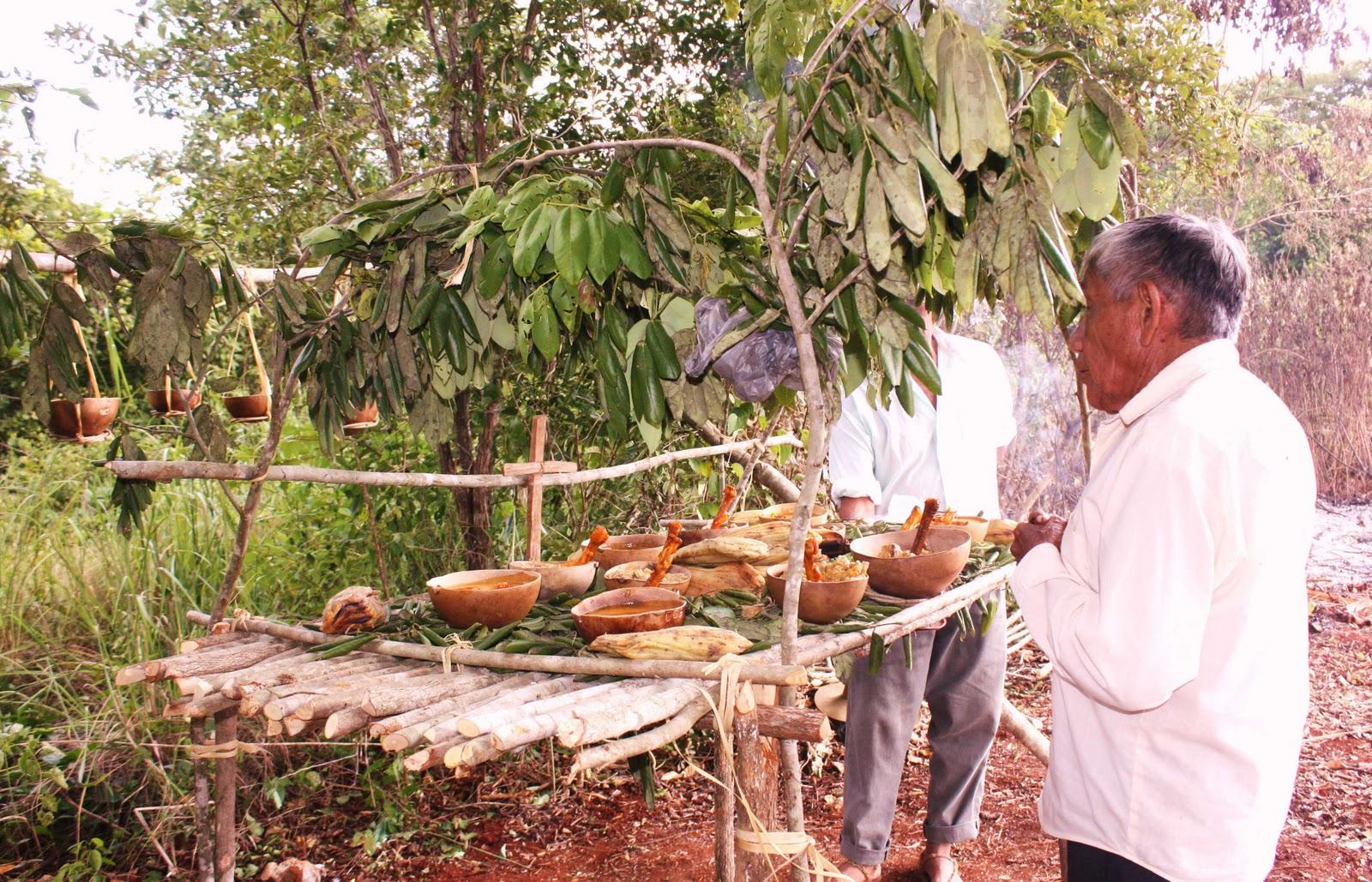 Ceremonia del Chaac Chaac que se realiza para pedir la lluvia y buena cosecha
